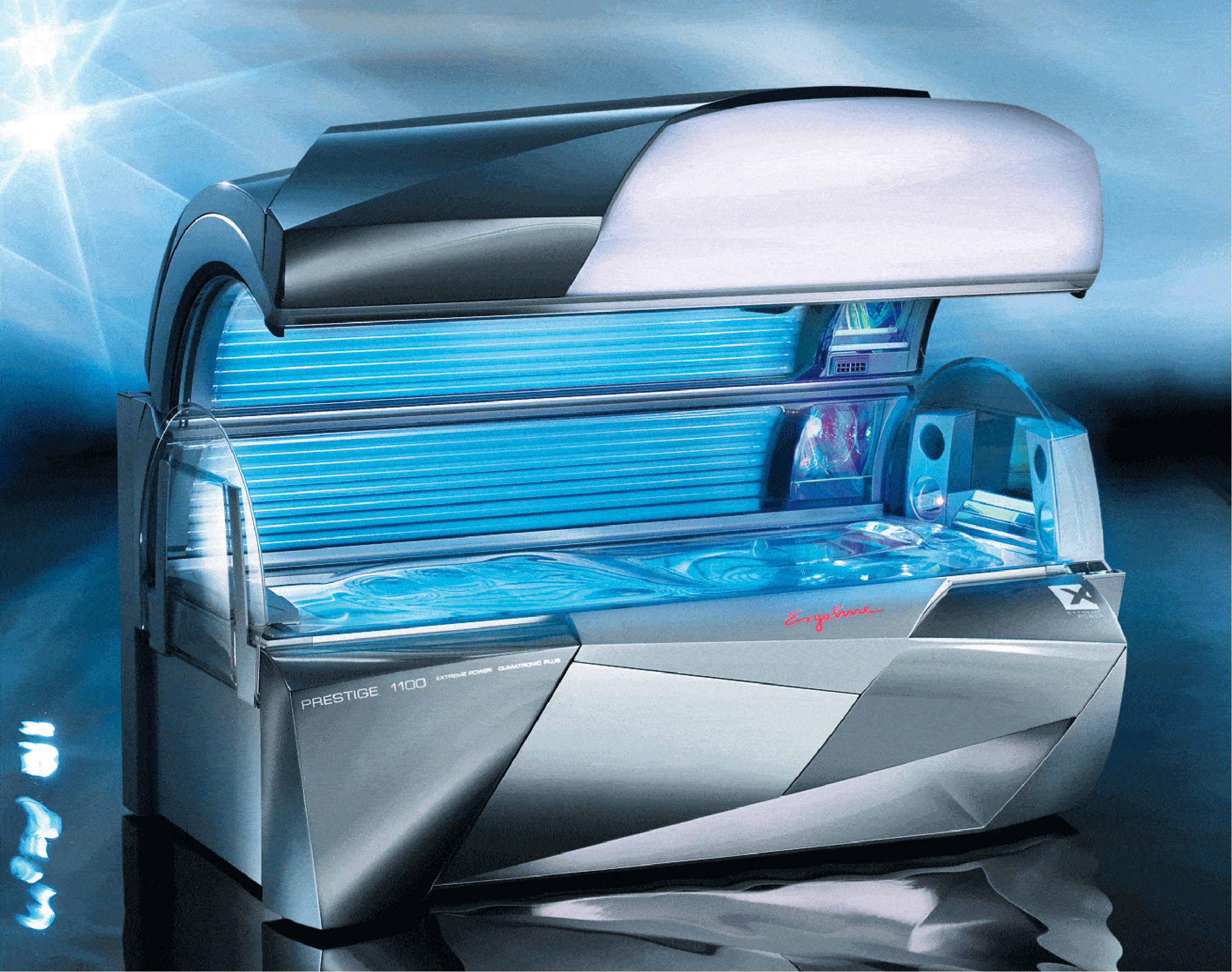 ... of 52 dynamic lamps at 200 watts each plus high-pressure facials and  shoulder tanners. The maximum tanning time is just 10 minutes. This bed is  ideal to ...